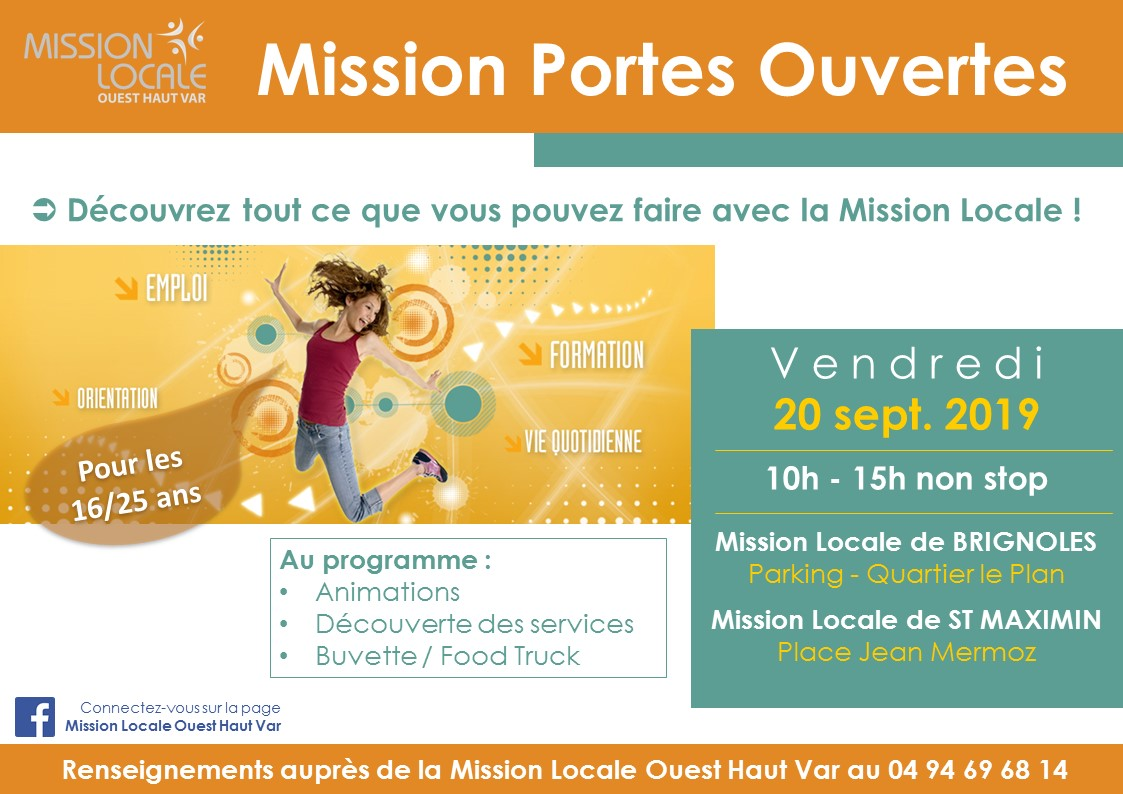 Portes ouverte la mission locale rougiers - Mission locale portes de provence ...